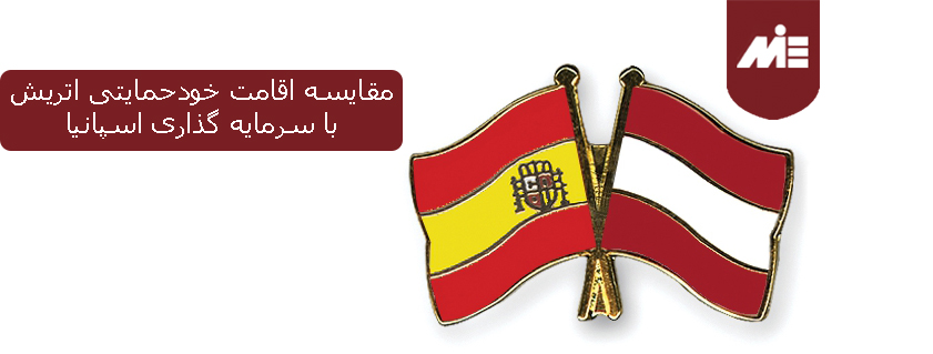 مقایسه اقامت خودحمایتی اتریش با سرمایه گذاری اسپانیا