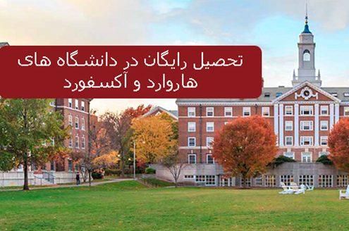 تحصیل رایگان در دانشگاه های هاروارد و آکسفورد