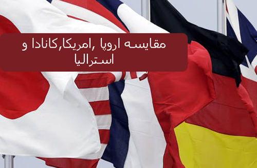 مقایسه اروپا و آمریکا و کانادا و استرالیا برای مهاجرت