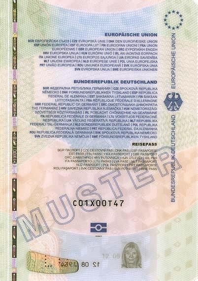 صفحه داخلی پاسپورت آلمان-min