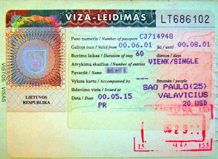 ویزای توریستی لیتوانی