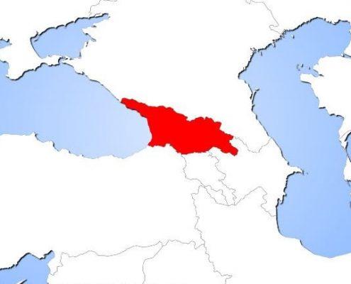 گرجستان بر روی نقشه