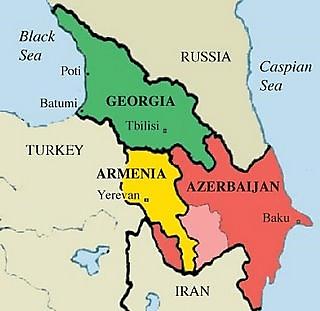 گرجستان روی نقشه