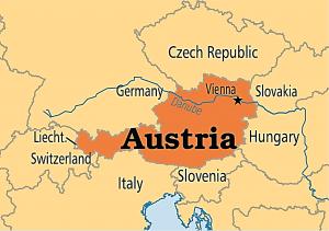 اتریش بر روی نقشه