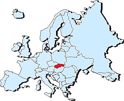 اسلواکی بر روی نقشه اروپا