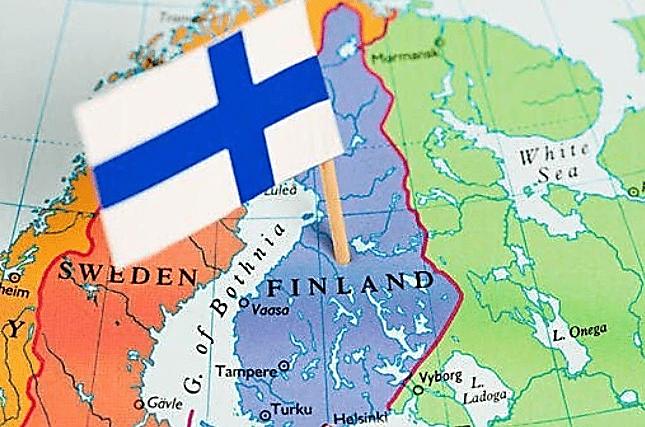 فنلاند بر روی نقشه