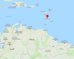 سنت لوسیا بر روی نقشه