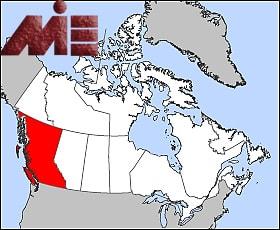 استان برتیش کلمبیا بر روی نقشه کانادا
