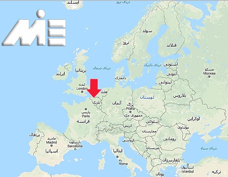 بلژیک بر روی نقشه
