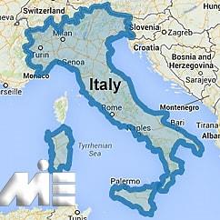 ایتالیا بر روی نقشه ـ ایتالیا