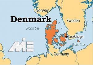 دانمارک بر روی نقشه