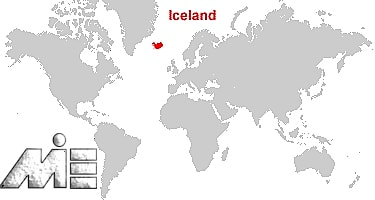 ایسلند بر روی نقشه