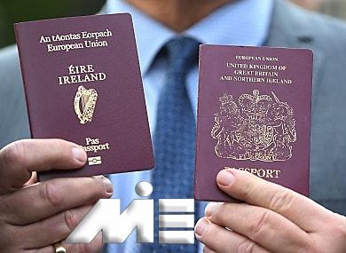 پاسپورت ایرلند از طریق ازدواج
