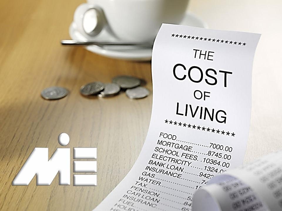 هزینه های زندگی در خارج از کشور