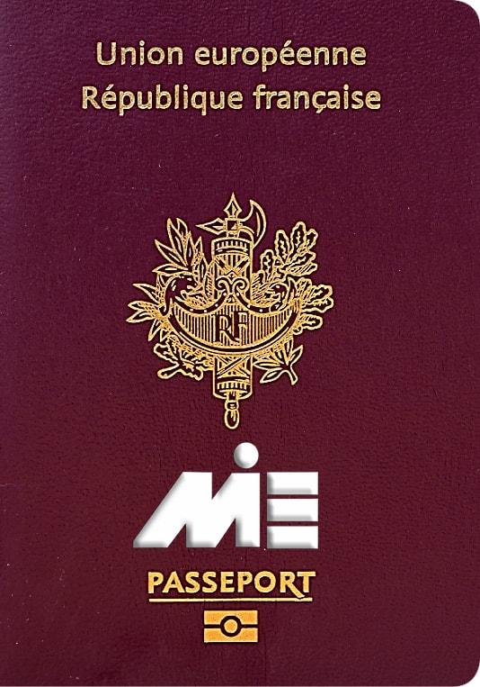 پاسپورت فرانسه ـ تصویر جلد پاسپورت فرانسه