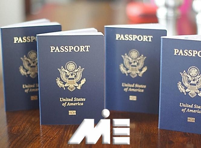 تصویر پاسپورت آمریکا ـ شمای پاسپورت آمریکا ـ پاسپورت آمریکا
