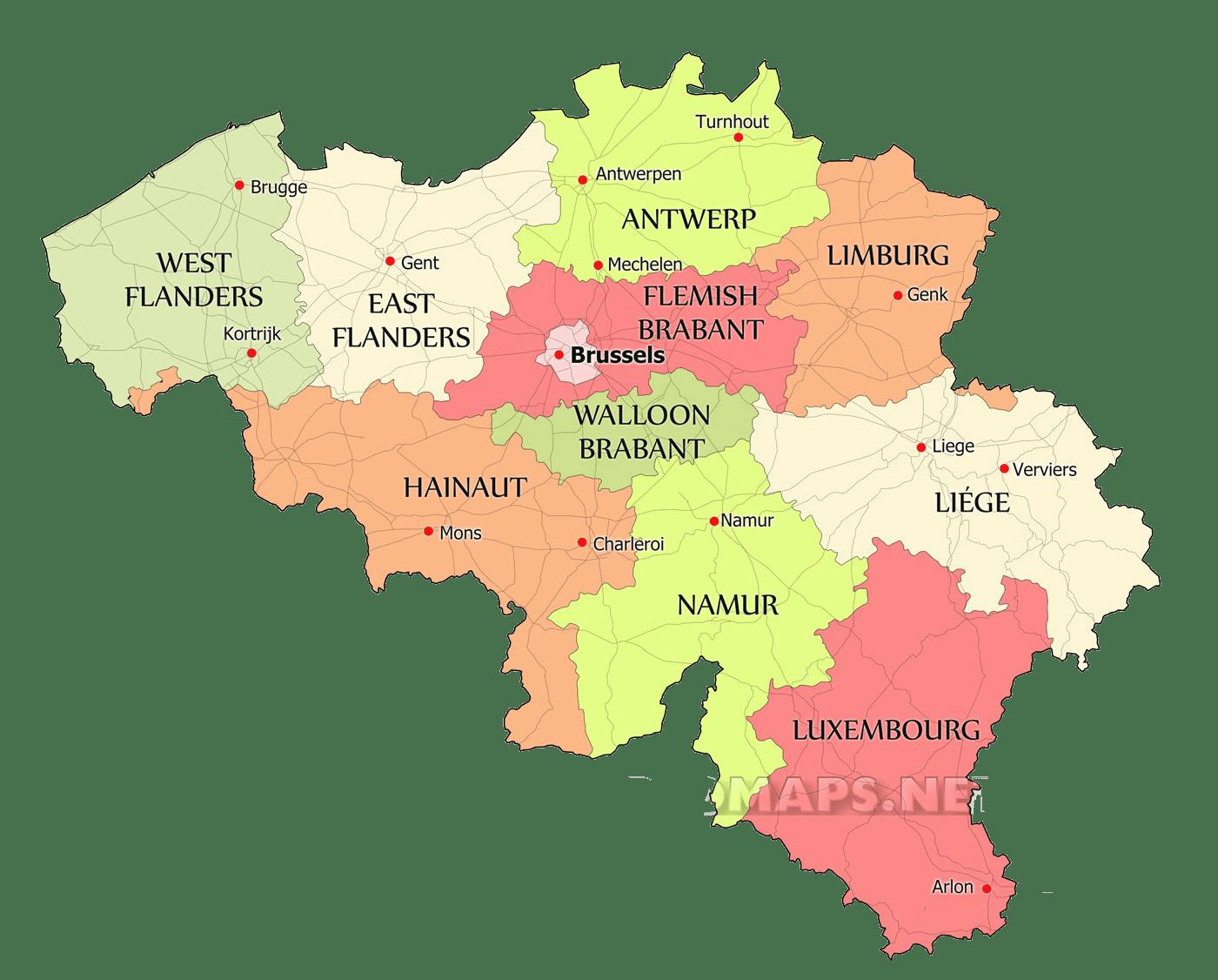نقشه بلژیک