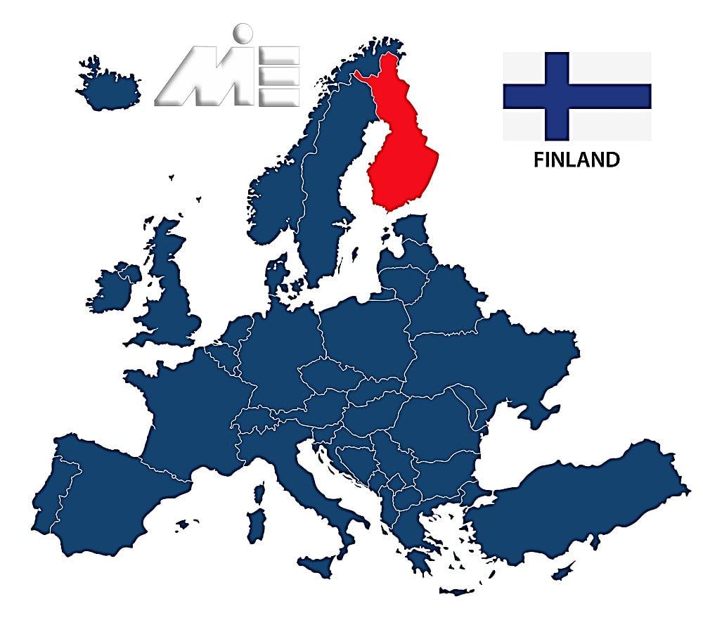 فنلاند بر روی نقشه ـ مهاجرت به فنلاند جهت اخذ پاسپورت فنلاند