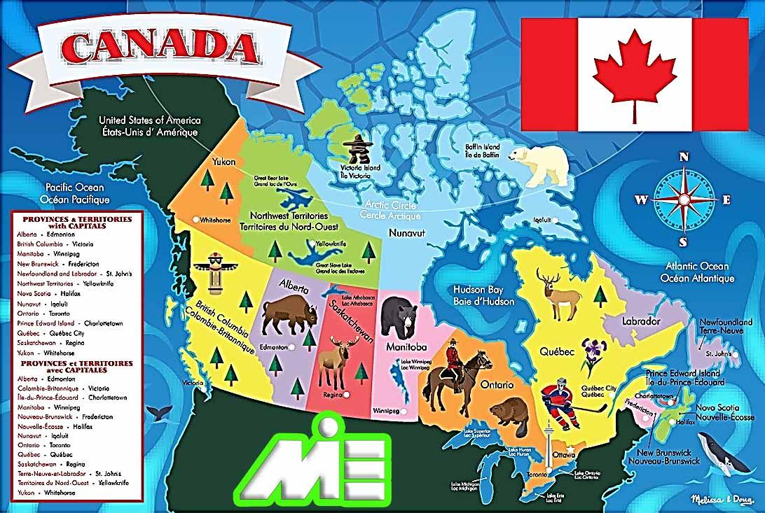 نقشه کانادا ـ نقشه بومی کانادا