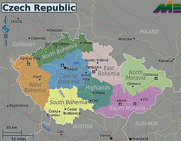 نقشه جمهوری چک