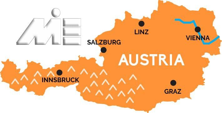 نقشه جغرافیایی اتریش