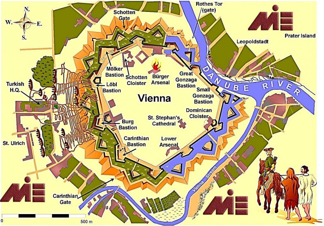 نقشه توریستی تاریخی وین