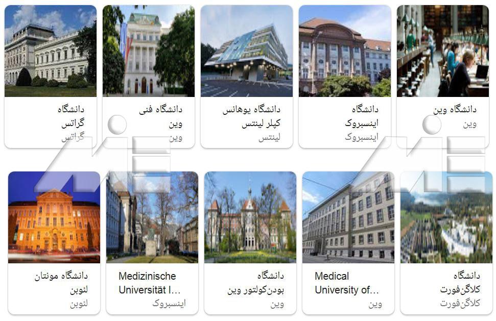دانشگاههای اتریش ـ دانشگاههای دولتی و خصوصی اتریش ـ دانشکده موسیقی اتریش