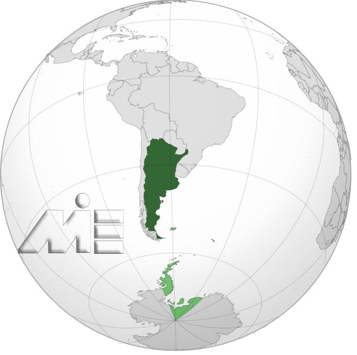 آرژانتین بر روی نقشه ـ آرژانتین کجاست؟