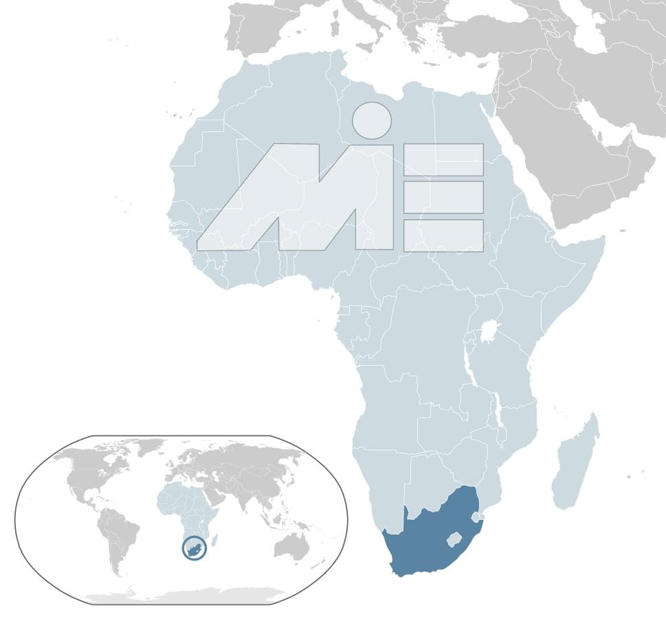 موقعیت کشور آفریقای جنوبی