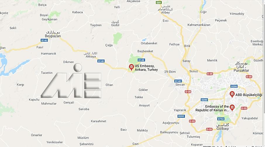 آدرس سفارت آمریکا در ترکیه