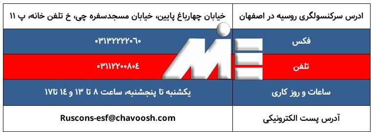 ادرس و اطلاعات سرکنسولگری روسیه در اصفهان
