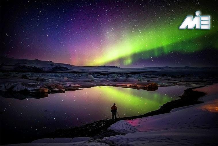 شفق های قطبی آرورا بوریلیس ایسلند
