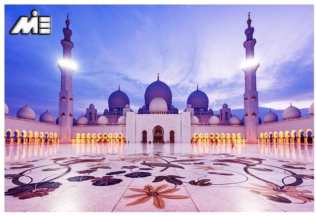 مسجد شیخ زاید امارات ـ جاذبه های گردشگری امارات ـ ویزای توریستی امارات