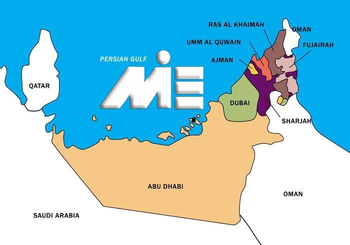 نقشه امارات ـ امارات بر روی نقشه ـ امارات کجاست؟