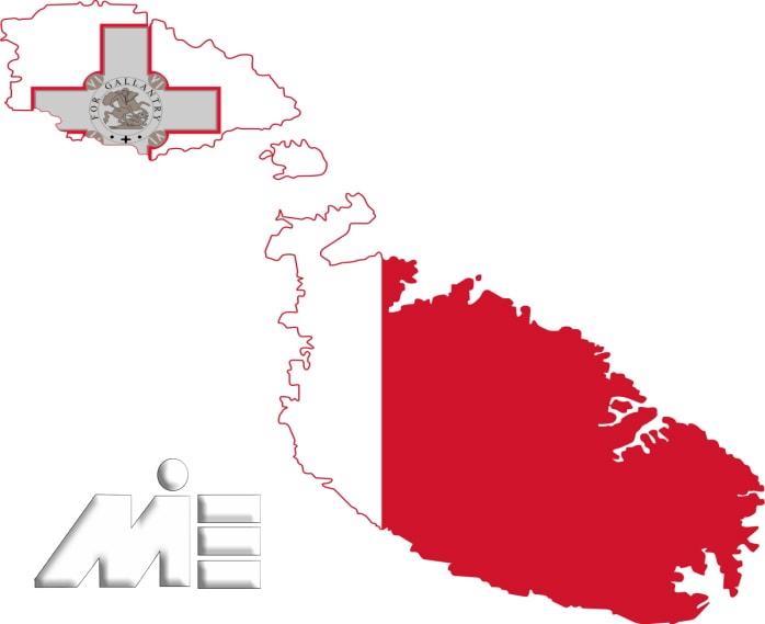 پرچم مالتا ـ نقشه مالتا ـ ویزای توریستی مالتا