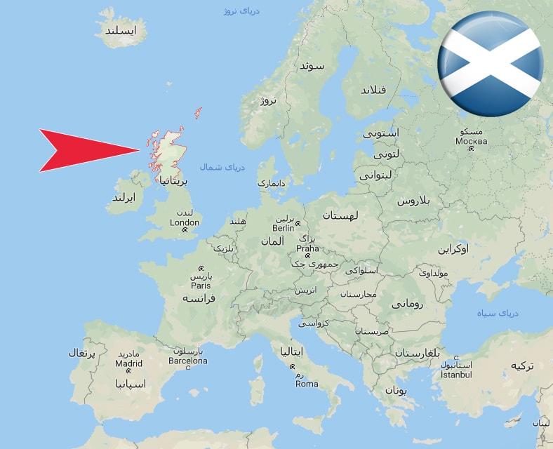 اسکاتلند بر روی نقشه ـ اسکاتلند کجاست؟