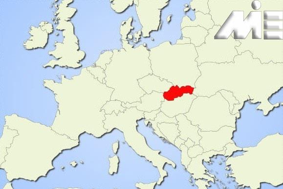 اسلواکی بر روی نقشه ـ اسلواکی کجاست؟