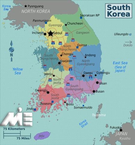 نقشه کره جنوبی