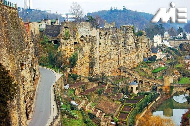 The Bock Casements   جاذبه های گردشگری لوکزامبورگ ویزای توریستی لوکزامبورگ