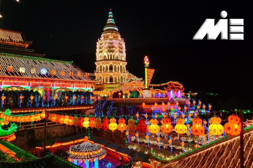 معبد Kek Lok Si در مالزی | جاذبه های گردشگری مالزی | ویزای توریستی مالزی