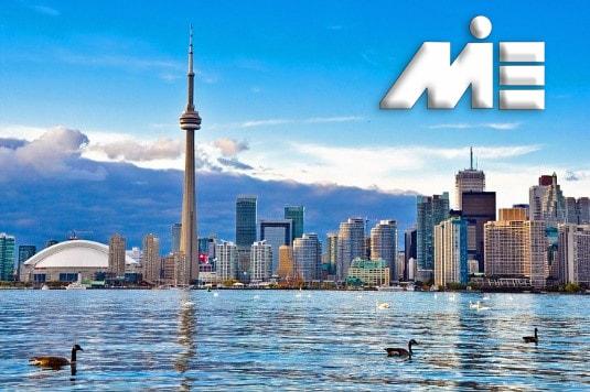 افق تورنتو با برج CN | جاذبه های گردشگری کانادا | ویزای توریستی کانادا