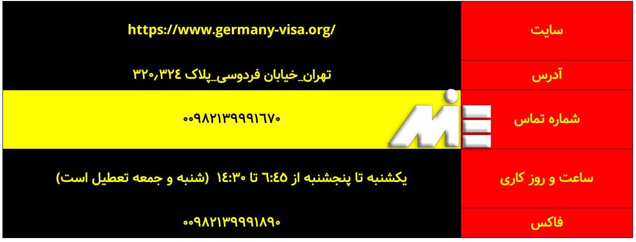 آدرس و وبسایت رسمی سفارت آلمان برای تعیین وقت سفارت آلمان