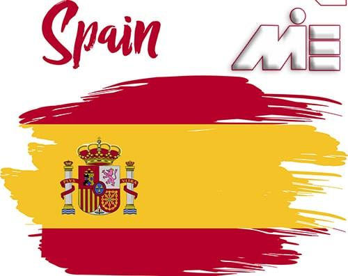 پرچم اسپانیا | مهاحرت به اسپانیا | ویزای اسپانیا | پاسپورت اسپانیا
