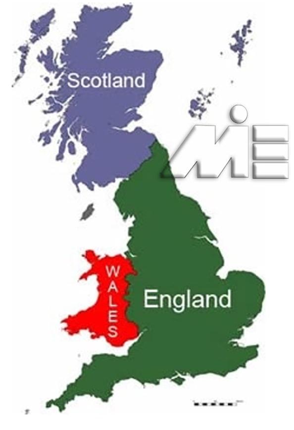 نقشه انگلستان - انگلستان کجاست و از چه کشورهایی تشکیل شده است؟ - UK map
