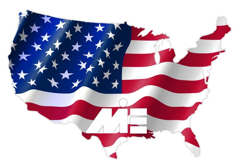 پرچم آمریکا - نقشه آمریکا - مهاجرت به آمریکا - ویزای آمریکا - پاسپورت آمریکا