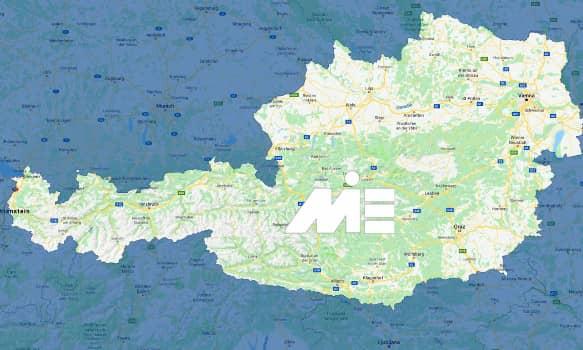 تحصیل در اتریش با مدرک دیپلم و شرایط عمومی آن - نقشه
