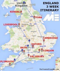 هزینه های تحصیل و زندگی در انگلستان و شرایط عمومی - نقشه