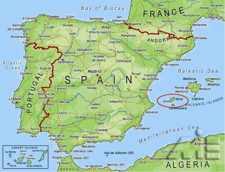 نقشه اسپانیا - اسپانیا کجاست؟