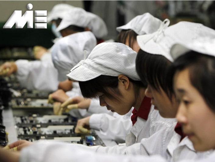 کارگران چینی - نیروی کار ارزان