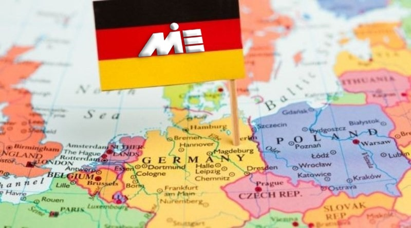 نقشه آلمان - مهاجرت به آلمان - اقامت آلمان - کار در آلمان - ویزای کاری آلمان